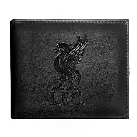 Liverpool FC - Cartera oficial con el escudo grabado - Negro - Negro