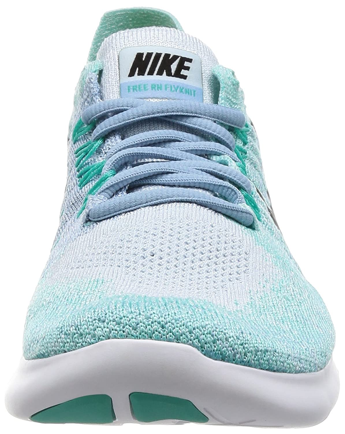 Nike Womens Free RN Flyknit 2017 Running Shoe BLUE TINT BLACK-CIRRUS BLUE-AURORA GREEN 6.5