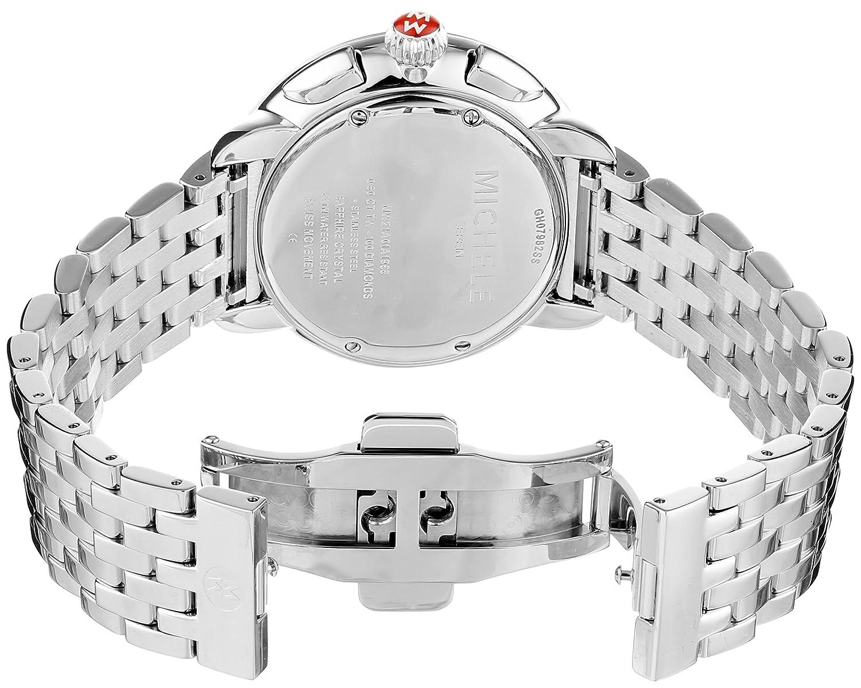 5a29e2aa032e Michele Serein Diamond MWW21A000001 40mm Diamonds Silver Steel Bracelet    Case Anti-Reflective Sapphire Women s Watch  Amazon.co.uk  Watches