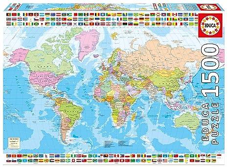 Amazon educa childrens 1500 political worldmap puzzle piece educa childrens 1500 political worldmap puzzle piece gumiabroncs Image collections