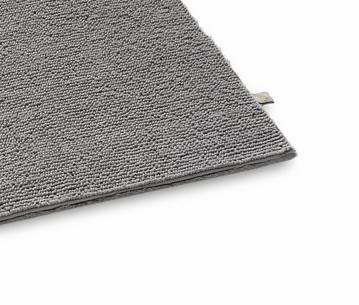 Rhomtuft Badteppich Pur - kiesel 85 - 60 x 100 cm