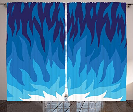 Trippy Curtains by Ambesonne, Abstract Gas Flame Background ...