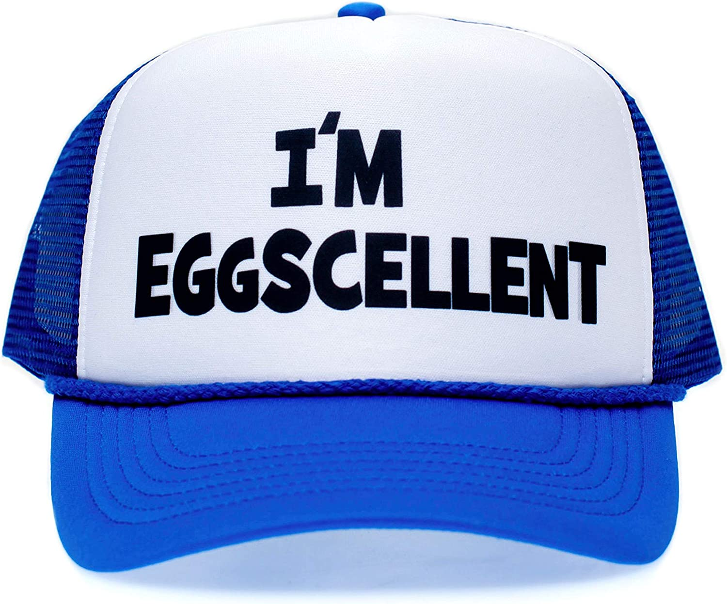 One-Size Royal//White Im Eggscellent Unisex-Adult Trucker Hat