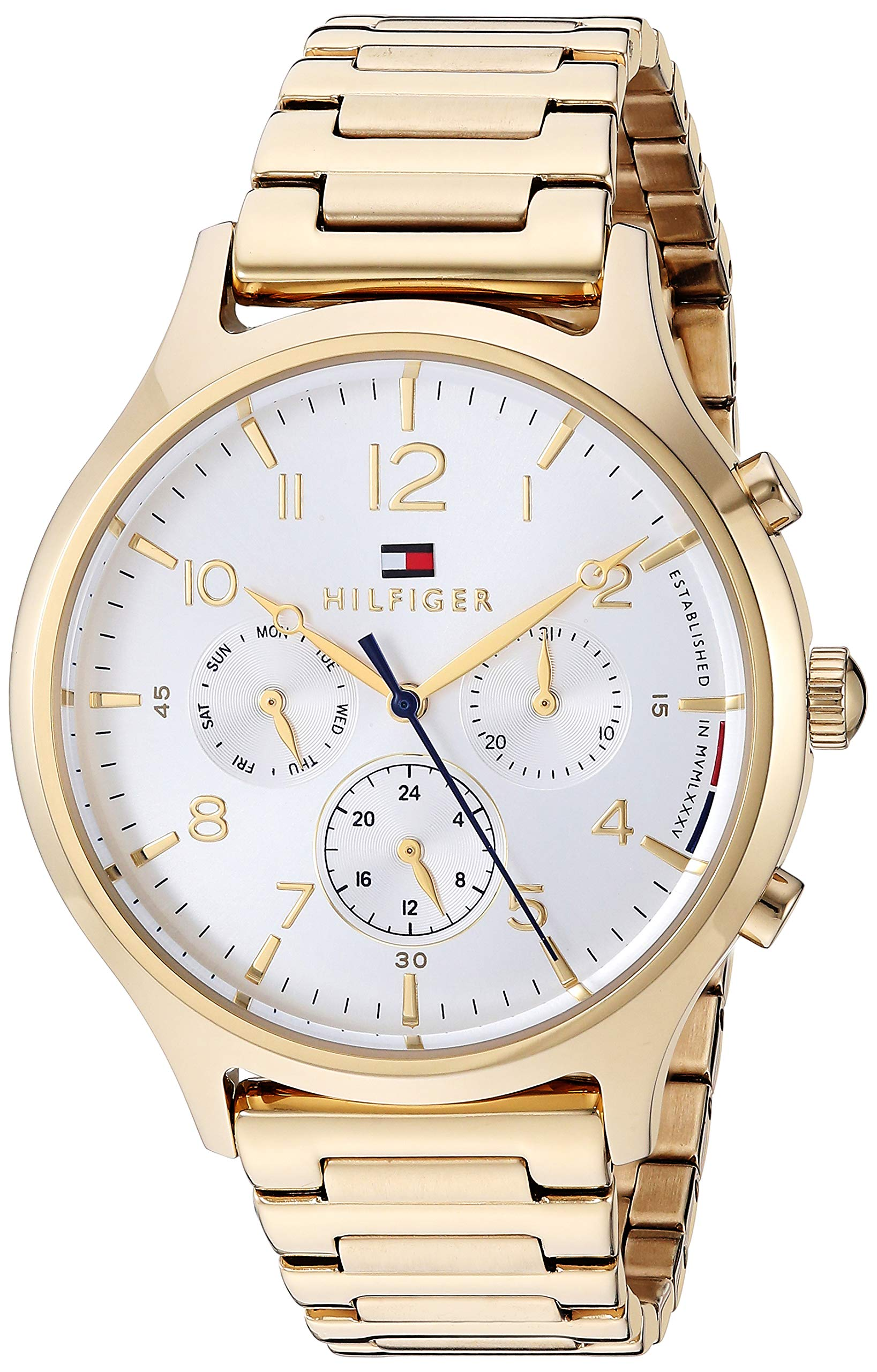 Women's Quartz Watch with Stainless Steel Strap, Yellow, 17.5 (Model: 1781872)