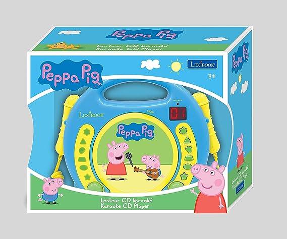 Peppa Pig - Lector CD con 2 micrófonos, infantil (Lexibook ...