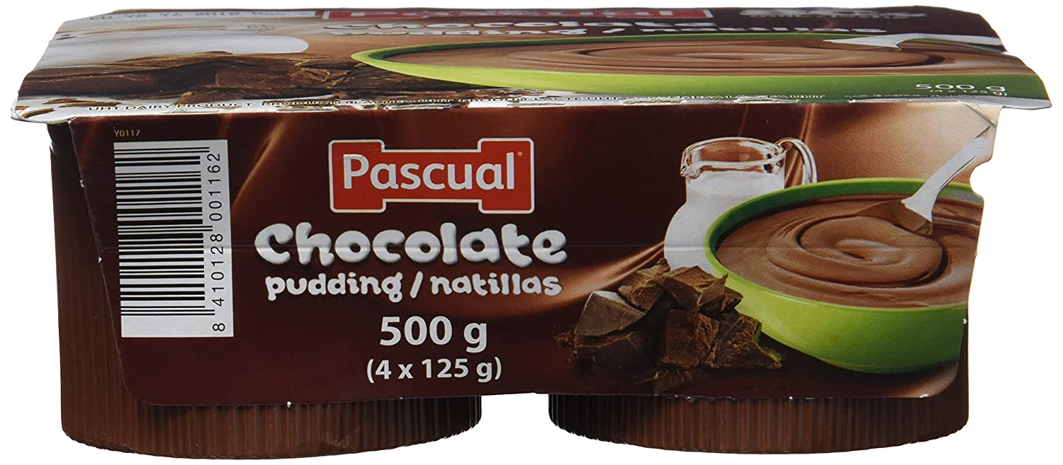 Pascual Natillas Chocolate - Paquete de 4 x 125 gr - Total: 500 gr - , Pack de 6: Amazon.es: Alimentación y bebidas