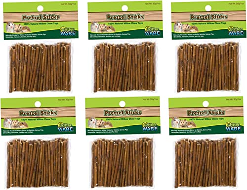 Ware Willow Critters Pretzel Sticks Small Pet Chew Pack of 6