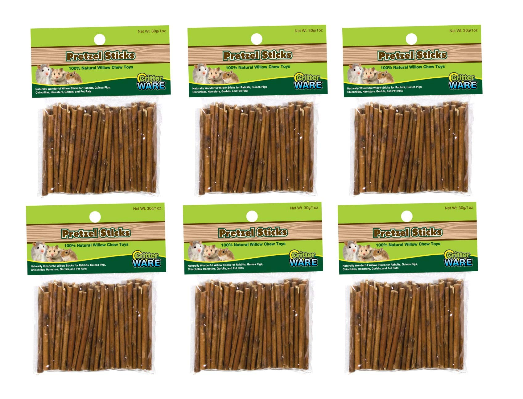 Ware Willow Critters Pretzel Sticks Small Pet Chew (Pack of 6)