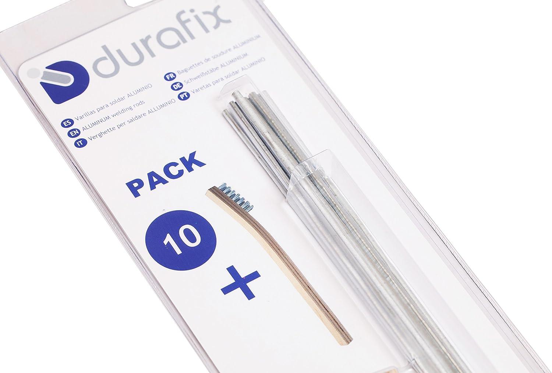DURAFIX® - 10 Varillas para soldar aluminio + 1 Cepillo inoxidable