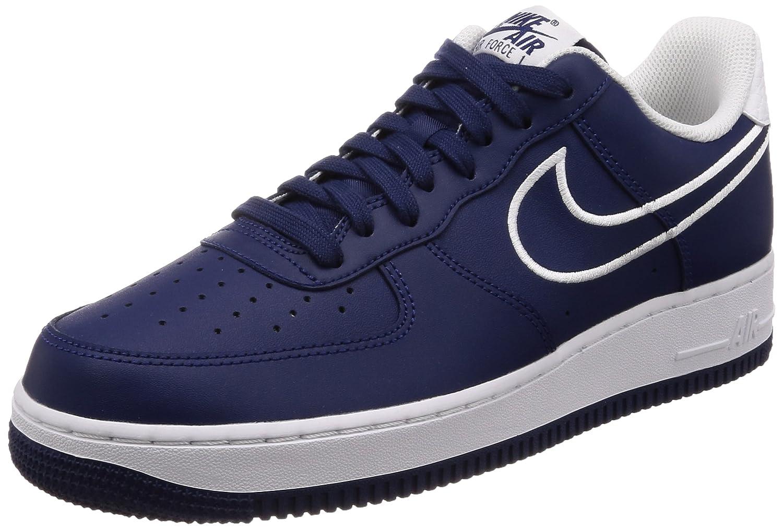 Nike Air Force '07 LTHR Men's Shoes Blue VoidWhite aj7280 400 (11.5 D(M) US)