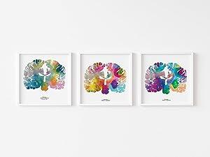 The Human Brain Art - Set of 3 - 12