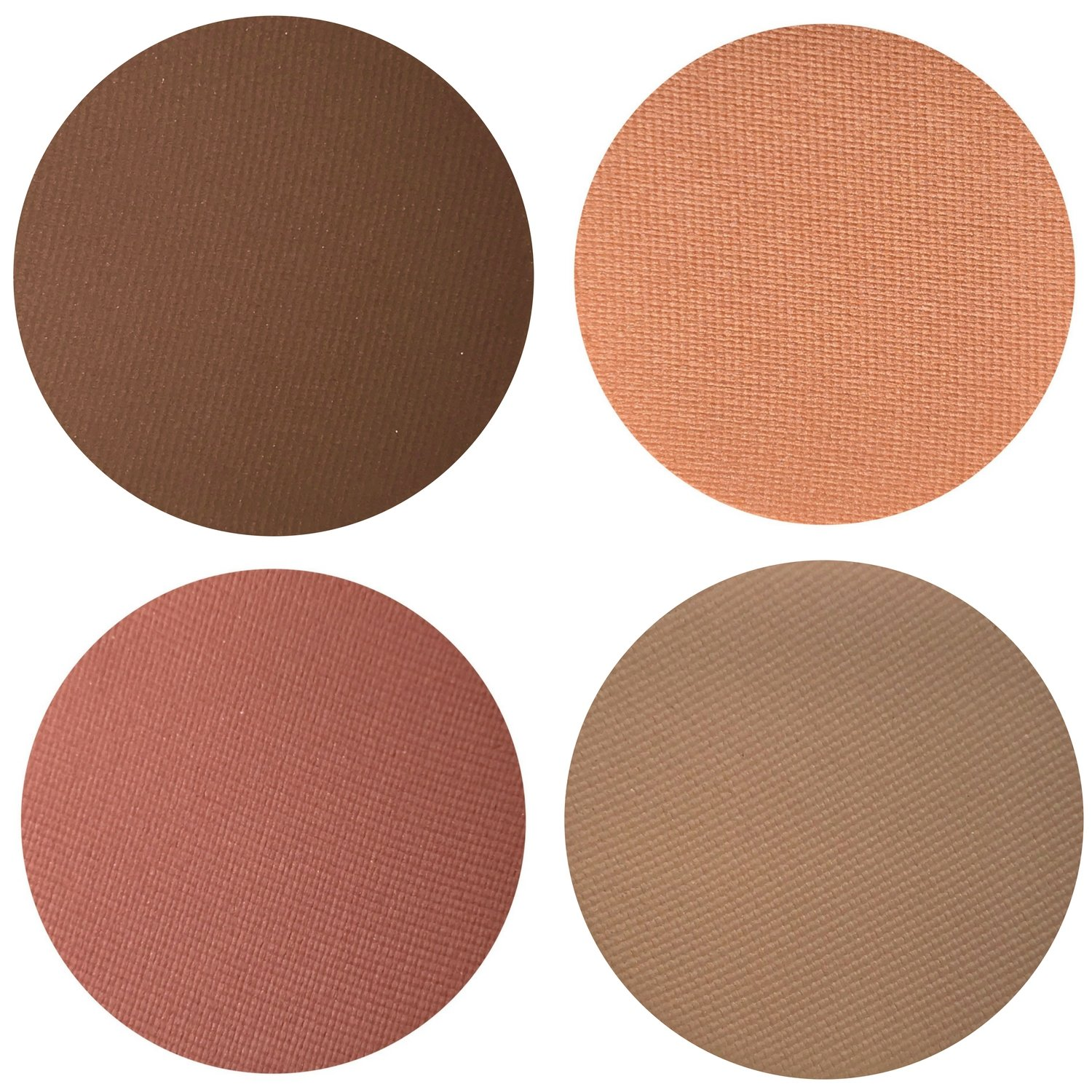 Peachy Perfection Eyeshadow Quad Palette - 4 Highly Pigmented Single Powder Eye Shadow Pans, Magnetic Refill 26mm, Professional Quality Makeup, Paraben Gluten Free, Cruelty Free Cosmetics