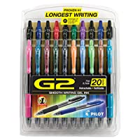 Deals on 20PK PILOT G2 Premium Refillable & Retractable Rolling Ball Gel Pens