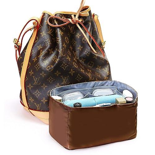 a0dff56d9ac7 IN Bag in Bag Organizer Insert for Drawstring Bucket Bag Handbag Organizer  Multi-Pocket Brown