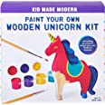 Girls Arts and Crafts - Kid Made Modern Paint Your Own Unicorn Kit - Wooden Sculpture Blank Canvas, Ages 3 and Up