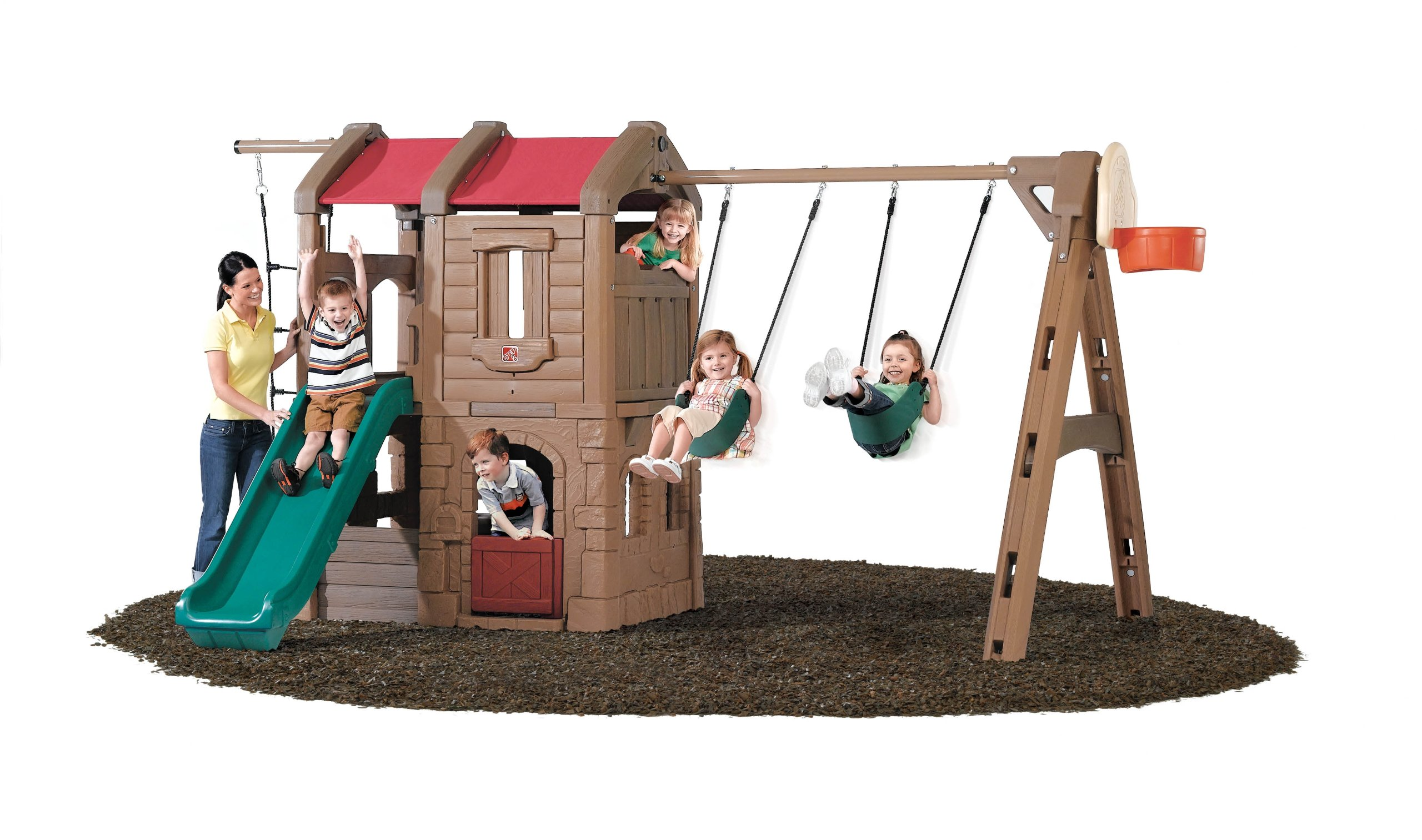 Step2 Naturally Playful Adventure Lodge Swing Set and Play Center by Step2