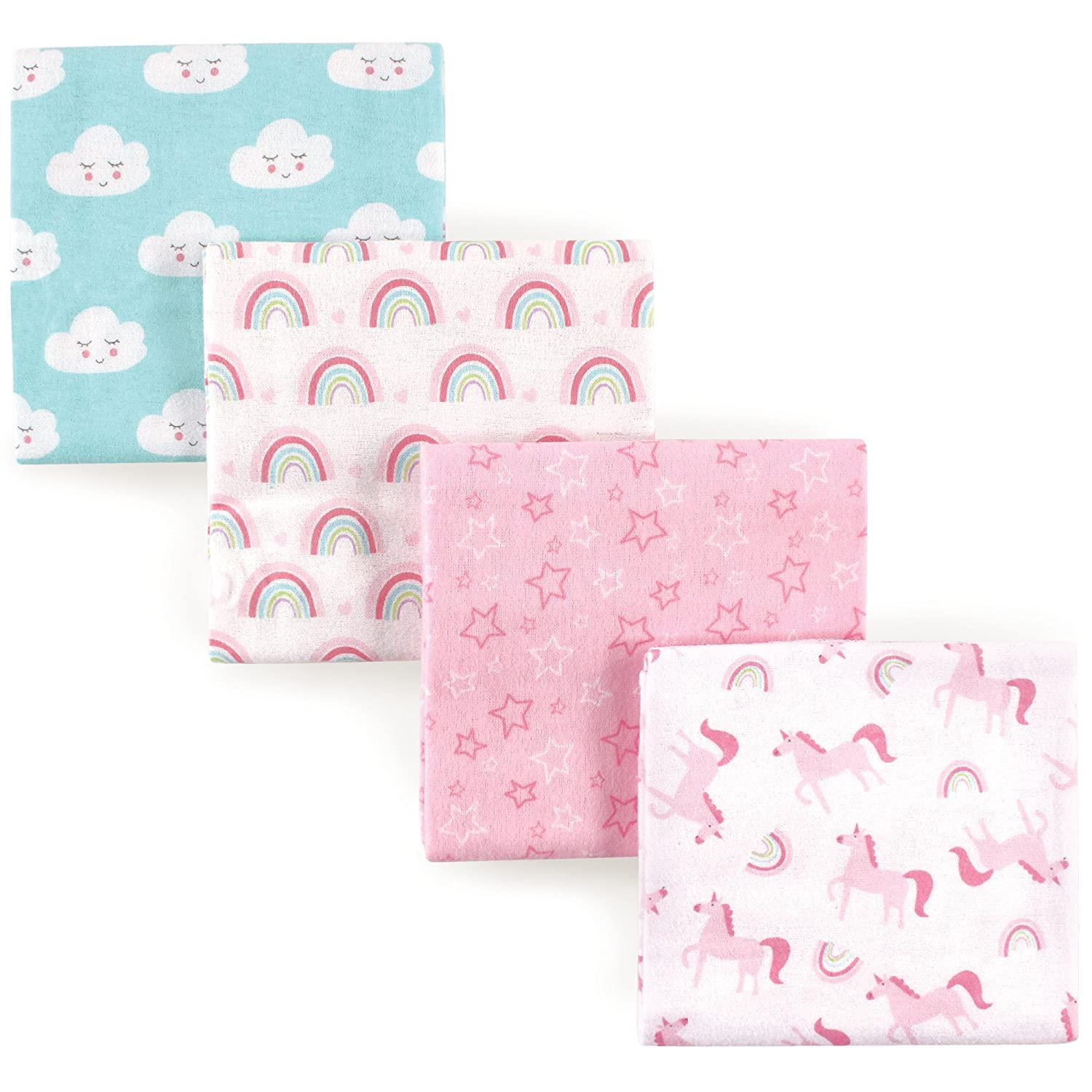 Luvable Friends Unisex Baby Cotton Flannel Receiving Blankets, Basic Elephant, One Size: Baby