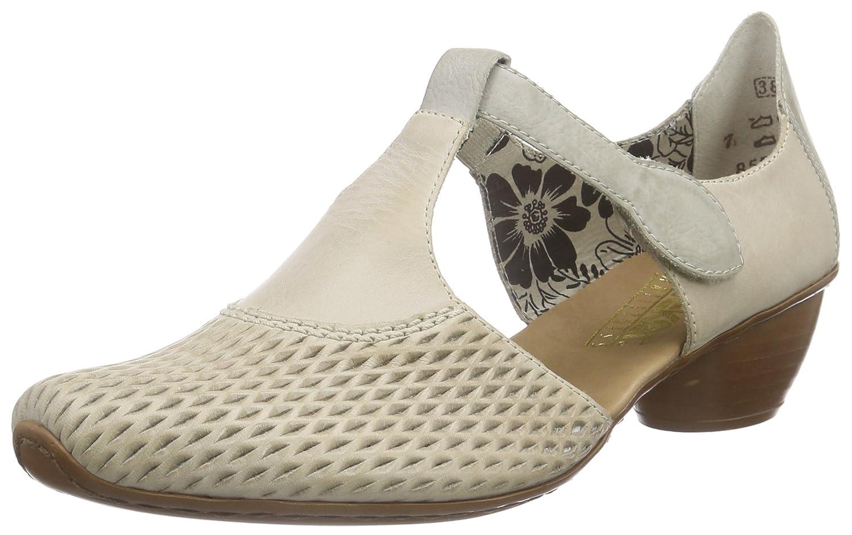 Rieker 43736 - Zapatos de Tacón Mujer 42 EU|Gris (Cloud/Ice)