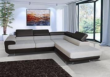 Sofa Couch Wohnlandschaft Garnitur Paris L Form Rana Collection 270