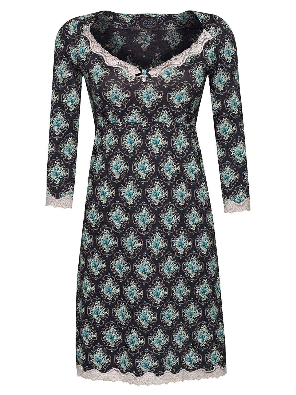 Vive Maria Blue Garden Nachthemd schwarz Allover-Print