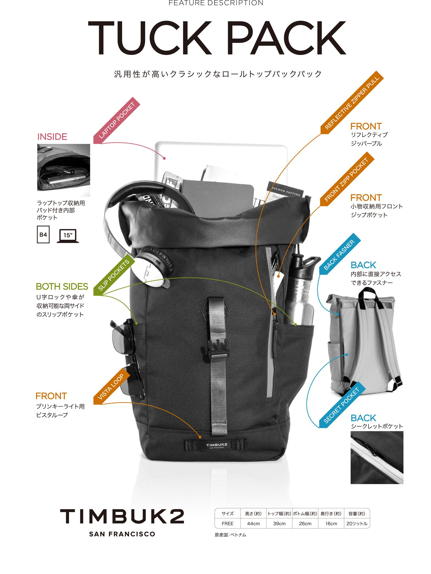 Timbuk2 Tuck Pack, Nautical/Bixi, One Size by Timbuk2 (Image #9)
