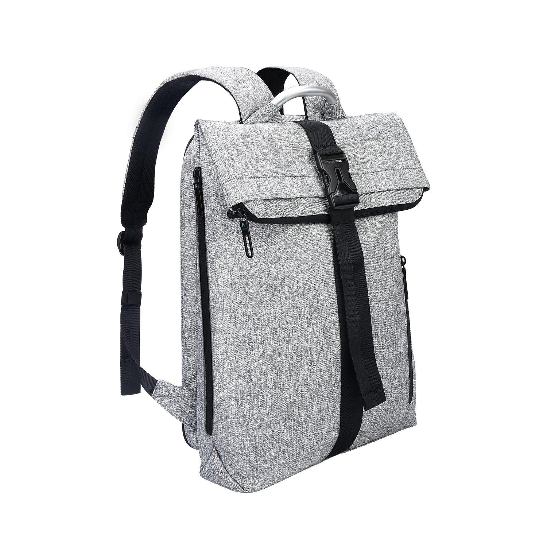 REYLEO Rucksack für Herren Damen, leichtgewichtiger Schultasche Alltagsrucksack mit Aluminiumlegierung Griff für Uni Büro Reise, 22 Liter (grau) RB16