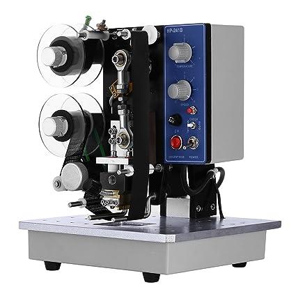 Happybuy Electric Hot Stamp Printer Coding Machine 200W Semi-Automatic Electric Color Ribbon Coding Date