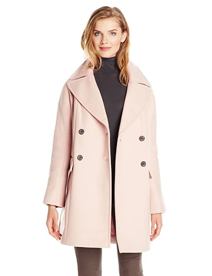 Amazon.com: Vince Camuto Women's Double Breasted Wool Coat: Clothing