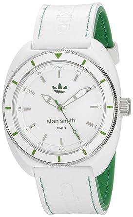 sports shoes 833e3 c5b8e adidas Unisex ADH2931 Stan Smith Analog Display Analog Quartz White Watch