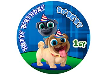 Puppy Dog Pals Edible Cake Image Personalized Topper Icing Sugar