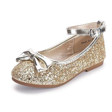 88145e5ef5f0c Hehainom Toddler/Little Kid Girl's Beryl_02 Ballerina Dress Flats Flower  Girl Bows Mary Jane Shoes