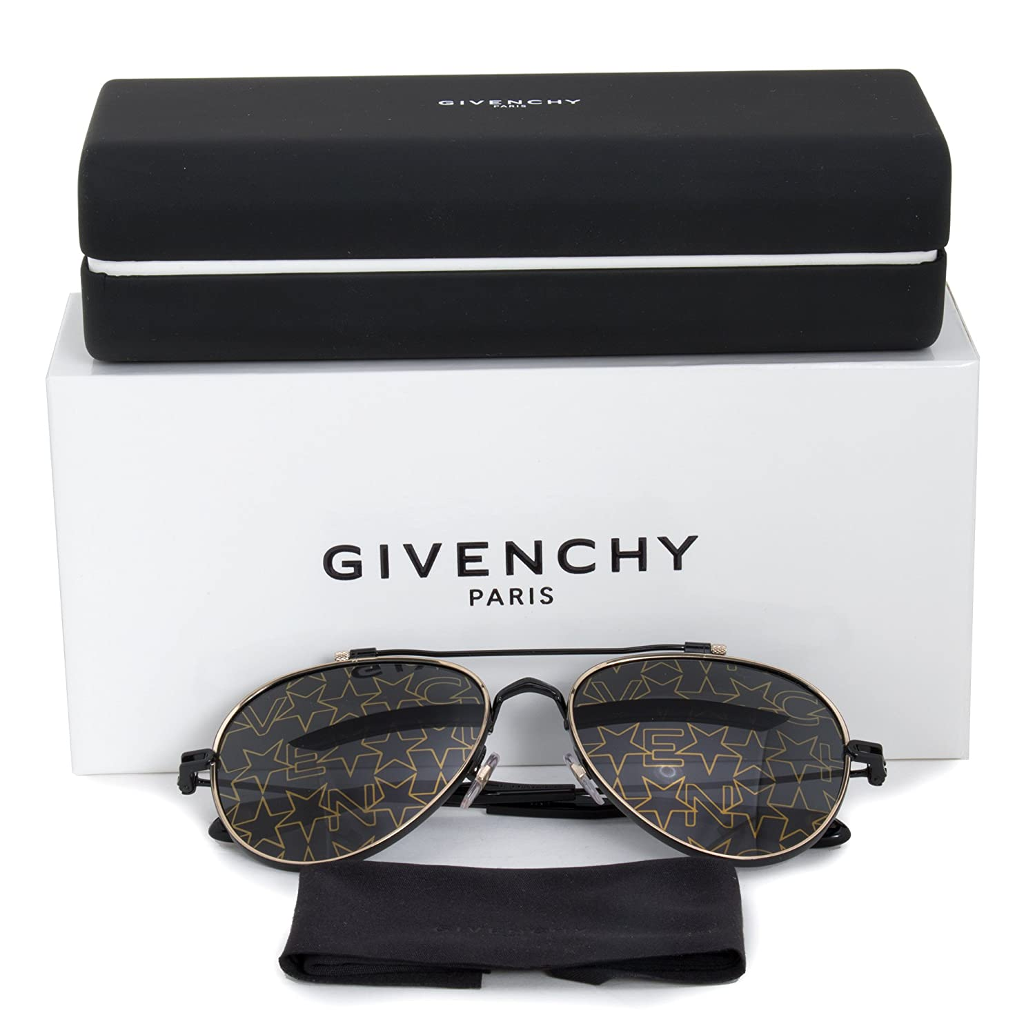 3cd28a6b75667 Amazon.com  Sunglasses Givenchy Gv 7057 S NUDE 02M2 Black Gold 7Y gold  decor lens  Givenchy  Clothing