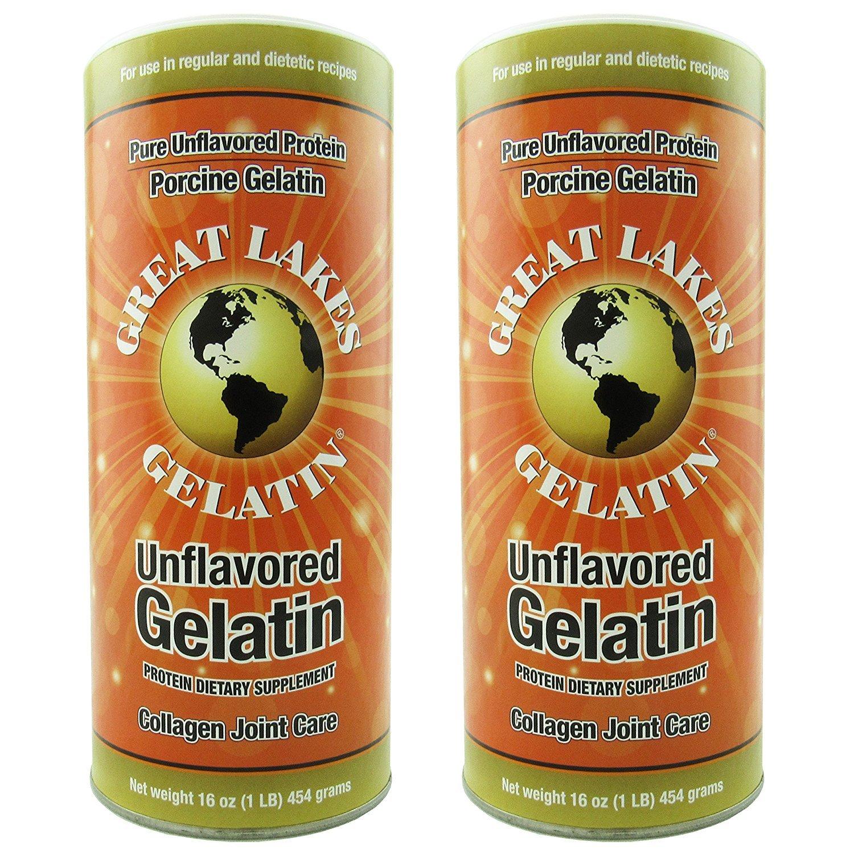 Great Lakes gelatina sin sabor, regular, lata de 16 onzas ...