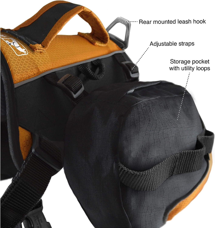 Kurgo Baxter Pack F/ür mittlere und gro/ße Haustiere Leichtgewicht Hund Satteltasche Rucksack Camping /& Reiseweste Geschirr Reflektierend Rucksack Hundegeschirr Wanderpaket f/ür Hunde