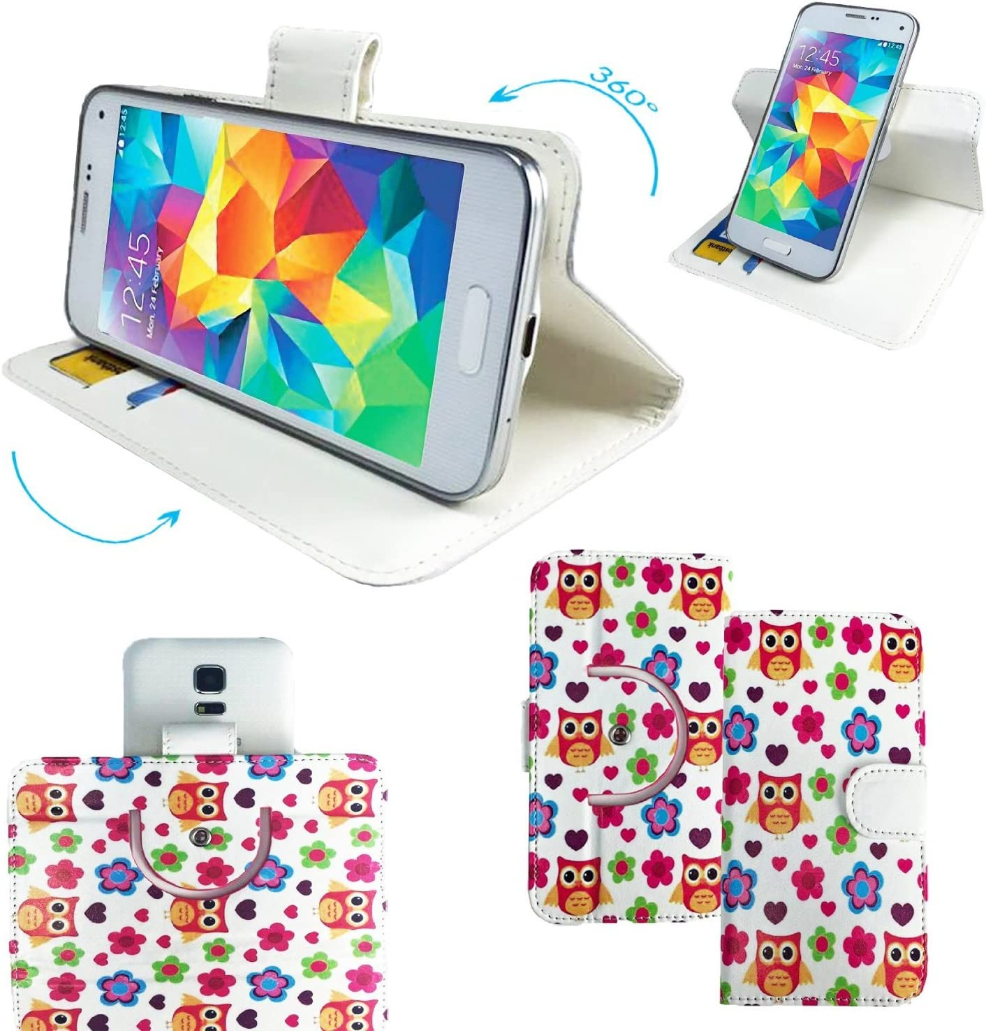 Goophone N3 360 print caso del smartphone/casos con 360° rotación ...