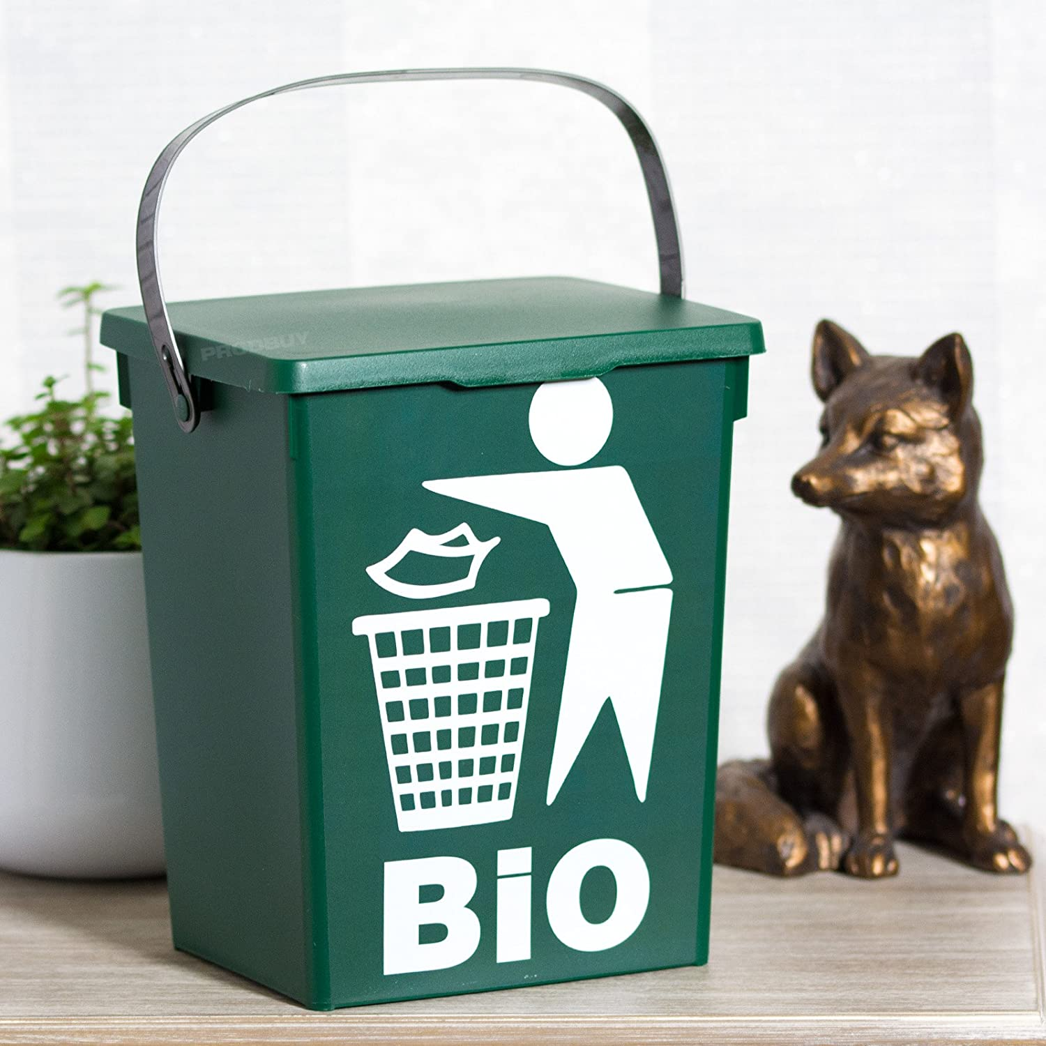 5 Litre Green Plastic Counter Top Compost Bin ProdBuy Limited