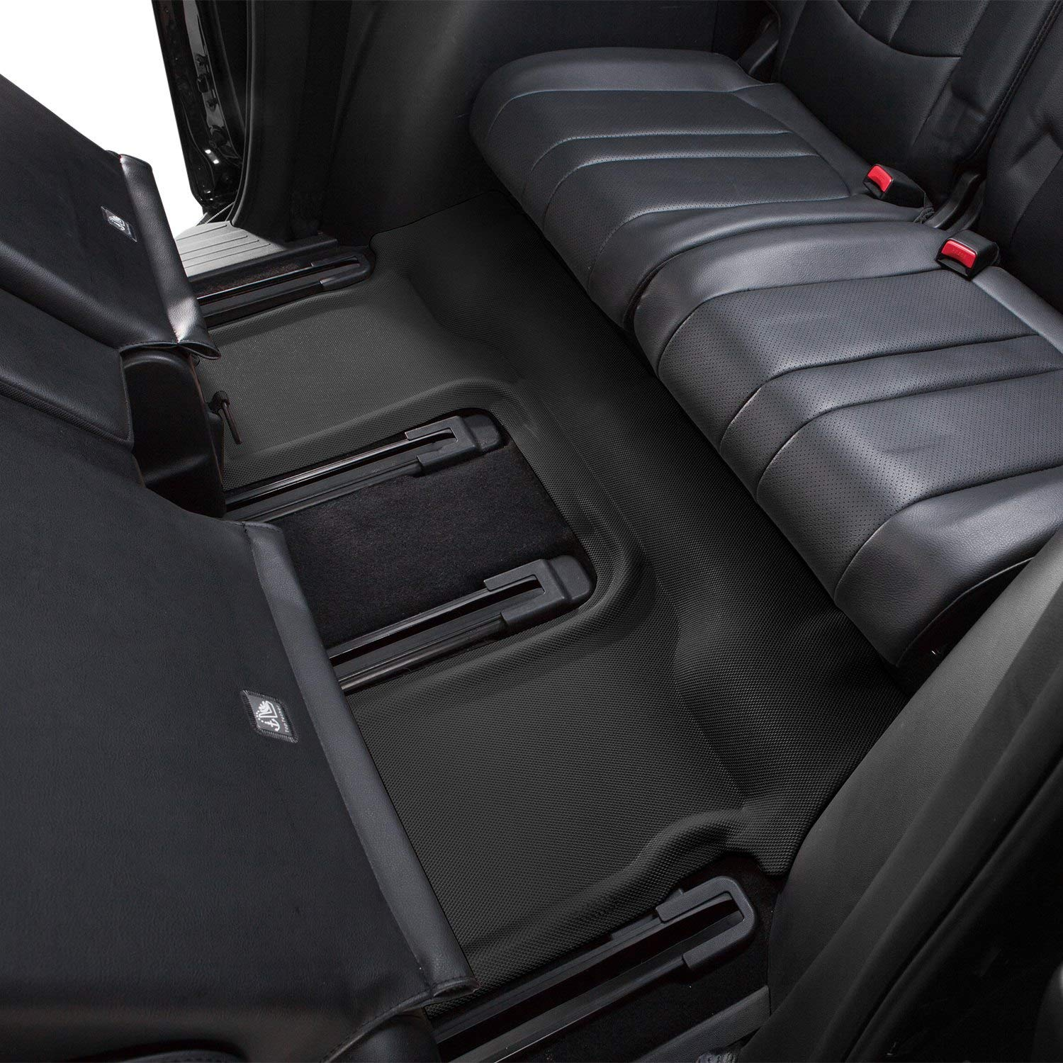 3D MAXpider L1TL00531509 Third Row Custom Fit All-Weather Kagu Series Floor Mats in Black for Select Cargo Liner for Tesla X Folding 7-Seats Models