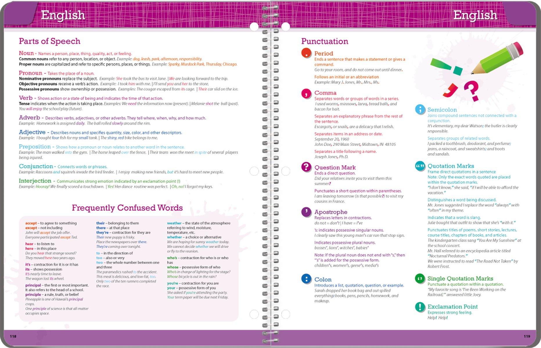 Student Planner 2016 - 2017 School Year Planner Elementary School Content 8.5'' x 11'' by School Datebooks (Image #8)