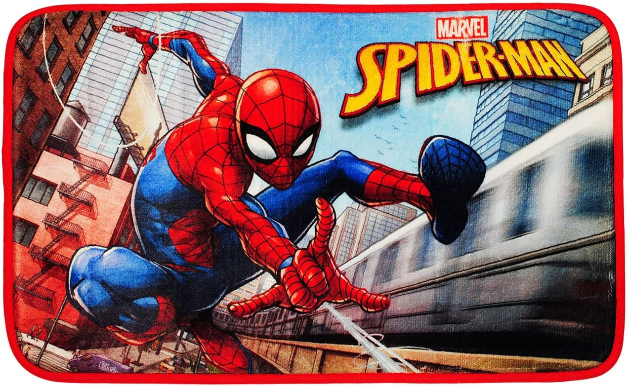 incl da unten gummiert Velours // Frot.. Spider-Man Teppich rutschfest alles-meine.de GmbH 3 in 1: Bettvorleger // Badewannenvorleger // Duschvorleger Name f/ür Jungen