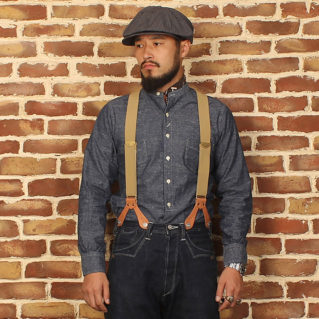 Men's Vintage Workwear – 1920s, 1930s, 1940s, 1950s Bronson Mens Snowflake Chambray Henry Collar Work Shirts $59.99 AT vintagedancer.com