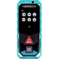 HERSCH Télémètre Laser LEM 50 (Portée 0,05-50m, Bluetooth+application, Affichage couleur pivotant avec écran tactile, Mesure 3D, inclinomètre, Ni-MH batterie, Robuste protection IP65) 841927