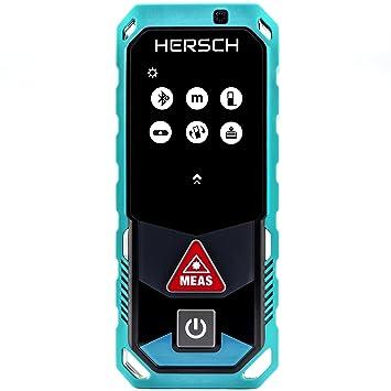 Bekannt HERSCH LEM 50 Laser Entfernungsmesser (Bluetooth + App, drehbares WN97