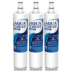 AQUACREST 4396508 Refrigerator Water Filter, NSF 401 Certified to Reduce 13 Contaminants, Compatible with Whirlpool 4396508 4396510, Filter 5, 46-9010, PUR W10186668, NLC240V (Pack of 3)