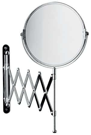 Premier Housewares Extending Bathroom Mirror Chrome