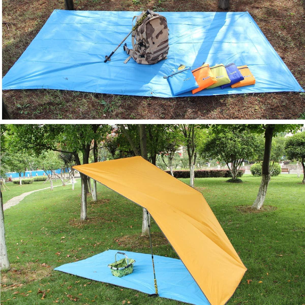 Azarxis Toldo Impermeable de Tienda de Campa/ña Ligero Lona del Piso para Sol Playa P/ícnic C/ésped Mochilero con Accesorios Camping