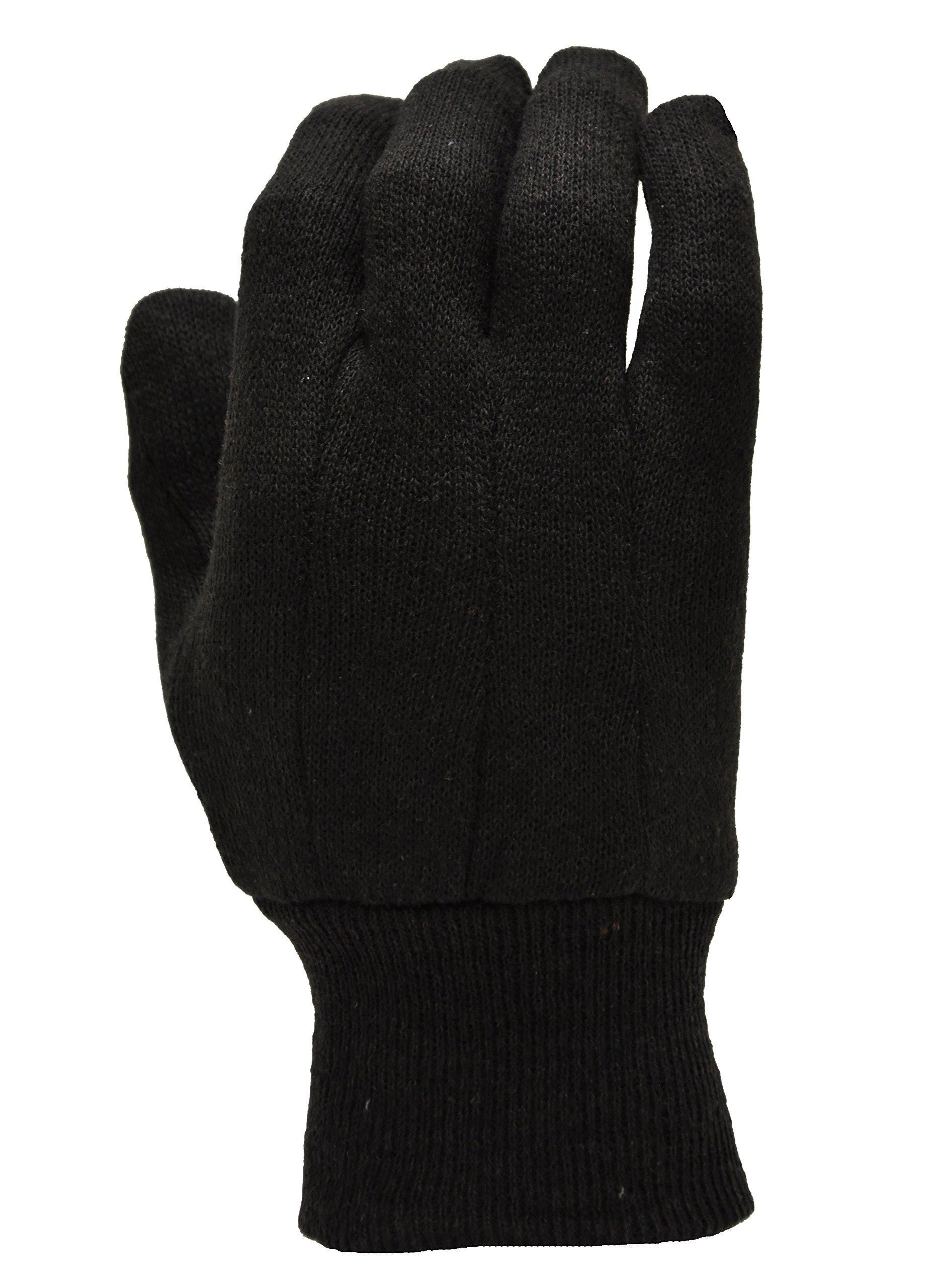 G & F 4408-25 Heavy Weight 9oz Cotton Brown Jersey Work Gloves, Large, 25-Dozen by G & F (Image #3)