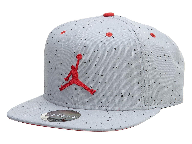 3527f8699a2 Nike Mens Jordan Retro 4 Snapback Hat Wolf Grey Fire Red 724893-013   Amazon.ca  Luggage   Bags
