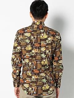 Camp Print Buttondown Shirt 111-14-0273: Green