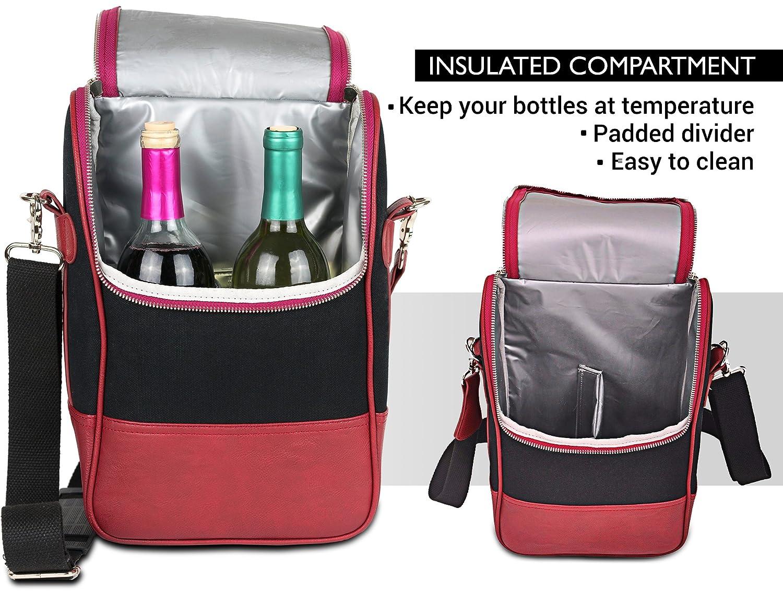 Vetelli Luxury Leather Wine Tote Bag
