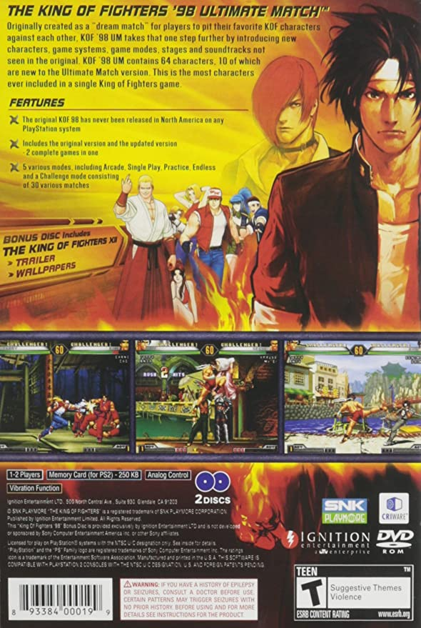 Buy King Of Fighters 98 Ultimate Match Online At Low Prices In